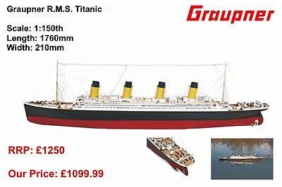 2104 Graupner R.M.S. Titanic 1:150 scale RC Radio Control Boat Ship New Boxed UK