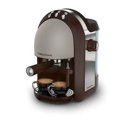 Morphy Richards 172005 Accents 1000W 15 Bar Espresso Coffee Machine in Pebble