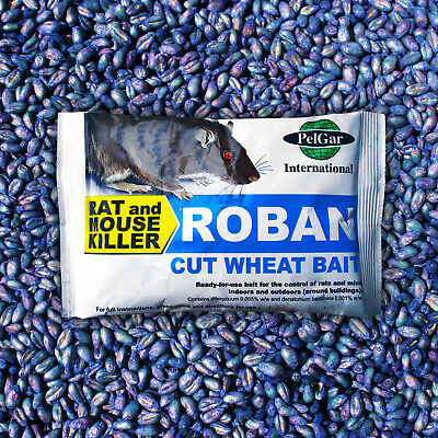 40g Sachet ROBAN Cut Wheat Professional Grade Rat & Mouse Bait Poison
