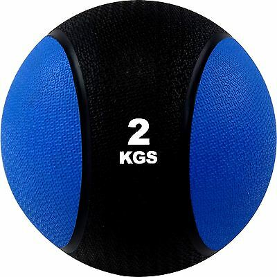 Weighted Medicine Ball 2kg Perfect Gym Workout Boxing Fitness MMA Training