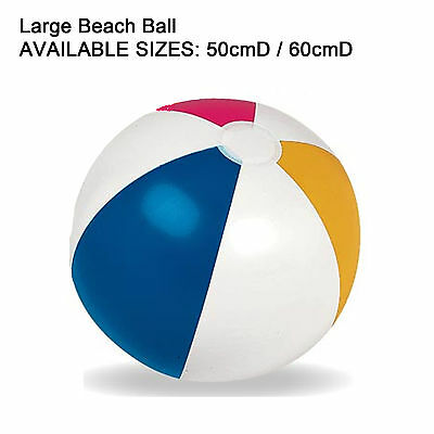 Inflatable Beach Ball 50/60cm Large Pool Holidays Party Game Blow Up Giant Ball
