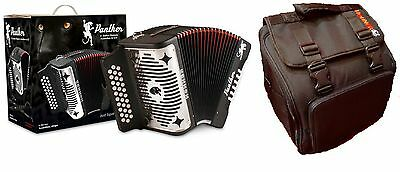 NEW Hohner Panther Accordion Black FBbEb Fa 31 Button 3100FB + FREE AGB Gig Bag!