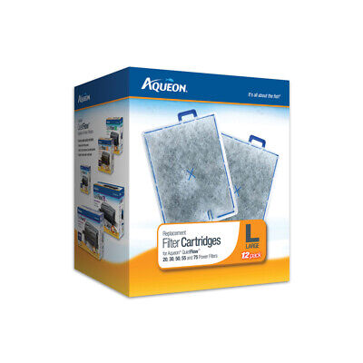 Aqueon Filter Cartridge Large 12 Pack. **Free Shipping**
