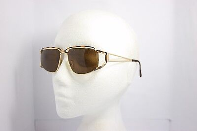 Maga Vintage Sunglasses Oversize Made in Italy 3040D RARE Gold 63mm