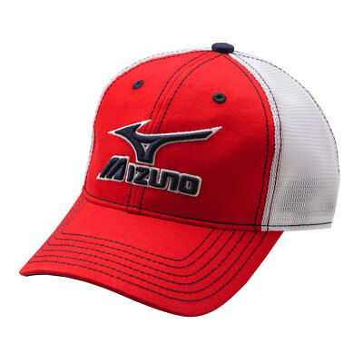 Mizuno Branded Mesh Trucker Hat - Red/White