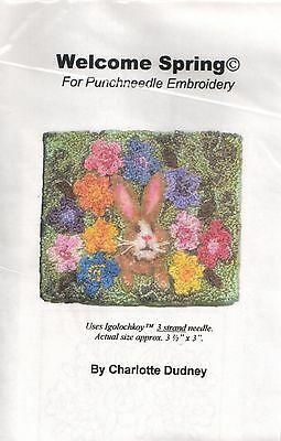 """""""Welcome Spring"""" a punchneedle design from Pep'rPot by Charlotte Dudney"""