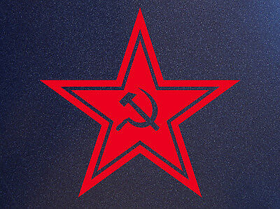 RUSSIAN RED STAR USSR CCCP Russia Soviet Union Hammer Sickle Car Sticker Decal