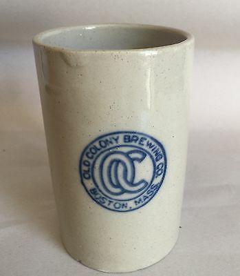Antique Old Colony Brewing Co Boston Mass 1910/ 1914 Stone Beer Mug