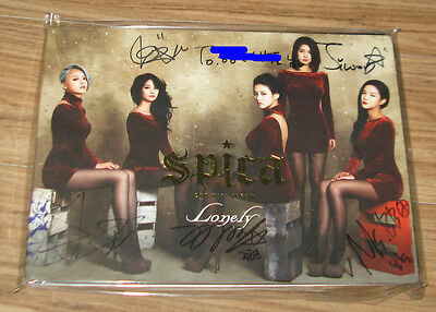 SPICA 2ND MINI ALBUM Lonely K-POP REAL SIGNED AUTOGRAPHED PROMO CD #1
