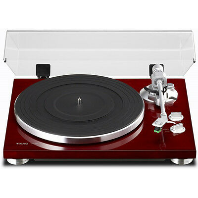 Teac TN-300-CH Cherry Analog Turntable w/ Built-in Phono Pre-Amplifier & USB Out