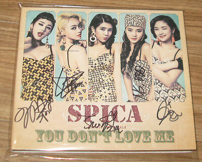 SPICA You Don't Love Me K-POP REAL SIGNED AUTOGRAPHED PROMO DIGITAL SINGLE CD