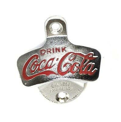 Coca-Cola Wand Flaschenöffner Wandmontage Stationary Wall Mount Bottle Opener