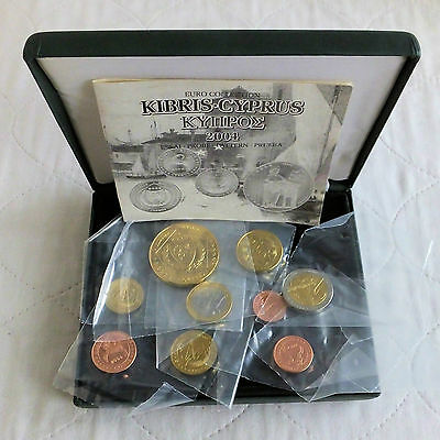 CYPRUS 2004 9 COIN EURO PROTOTYPE PATTERN PROOF SET - mint sealed