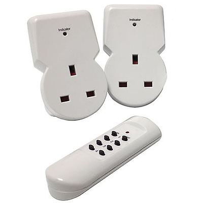 Remote Control Sockets Wireless Switch Home Mains UK Plug AC Power Outlet 2 Pack