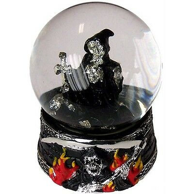 Realm Of The Reaper Halloween Snow Globe Decoration Ornament Death Mystical Set