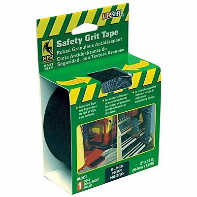 "Incom RE3951 Gator Grip Black Grit 2"" x 15' Anti Slip Non Skid Safety Tape"