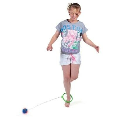 2 X Flashing Skip Ball - Ankle Skip It Jumping Toy for Children - Colours Vary
