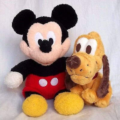 MICKEY MOUSE and PLUTO SOFT TOY SET