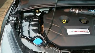 Ford Focus Headertank Cover And Cap Carbon Fibre Effect Abs Plastic Mk3 Rs St