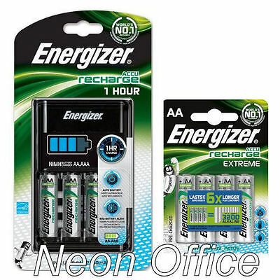 Energizer 1 Hour AA / AAA Charger + 8x 2300mAh AA Rechargeable EXTREME Batteries