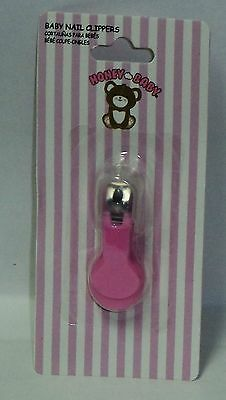 HONEYBABY Nail Clippers For Baby Toddlers Stainless Steel Non Toxic PINK NIP