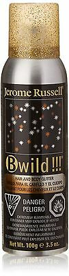 Jerome Russell B Wild Hair and Body Glitter Spray Gold Silver , Free Shipping
