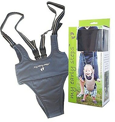 Little Dundi My Early Steps Learn to Walk Harness Grey One Size , Free Shipping