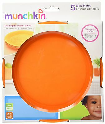 Munchkin 10280 Multi Plate 5-Pack (Colors May Vary) , Free Shipping