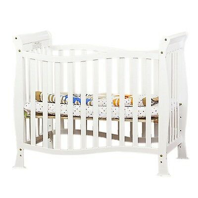 Dream On Me Violet 4 in 1 Convertible Mini Crib White , Free Shipping