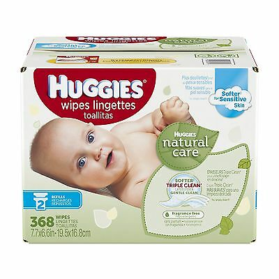 Huggies Natural Care Fragrance Free Baby Wipes Retail Case 36... , Free Shipping
