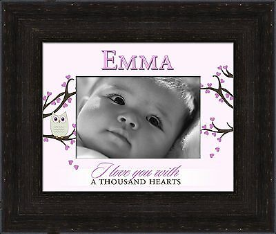 Paint Can Designs Emma Personalized Photo Frame Pink , Free Shipping