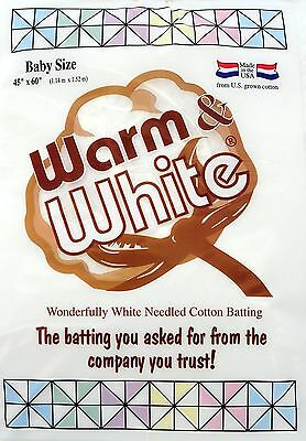 Warm Company 45-Inch by 60-Inch Warm and White Cotton Batting... , Free Shipping
