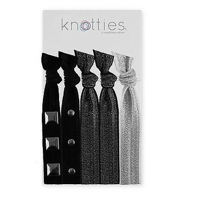 Knotties Snag Free Hair Accessories Embellished Silver 5-Count , Free Shipping