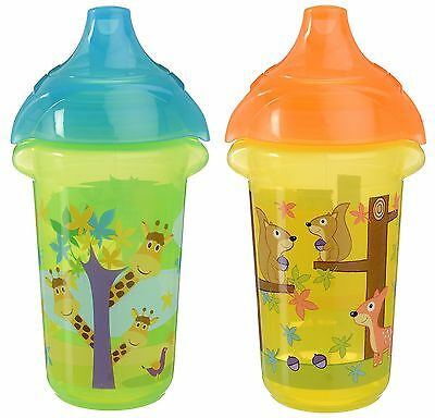 Munchkin Click Lock 9-Ounce Sippy Cup 2-Pack Blue/Green/Yello... , Free Shipping