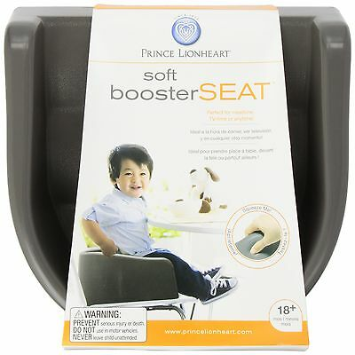 Prince Lionheart 6991 Soft Booster Seat (Charcoal Sierra Brown) , Free Shipping