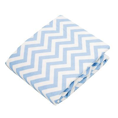 Kushies Baby Fitted Change Pad Sheet Blue Chevron , Free Shipping