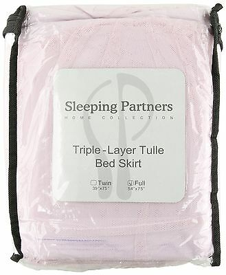 Tadpoles Tulle Triple Layer Bedskirt Full Pink , Free Shipping