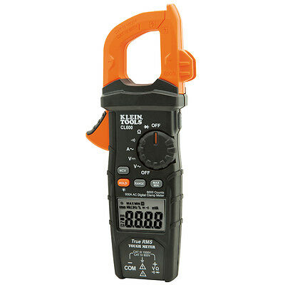 Klein Tools CL600 TRMS Digital Clamp Meter 600A AC Auto Ranging AC/DC Voltage