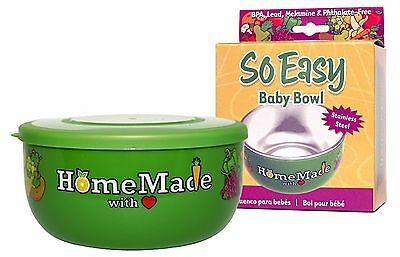 So Easy Stainless Steel Baby Bowl with Lid , Free Shipping
