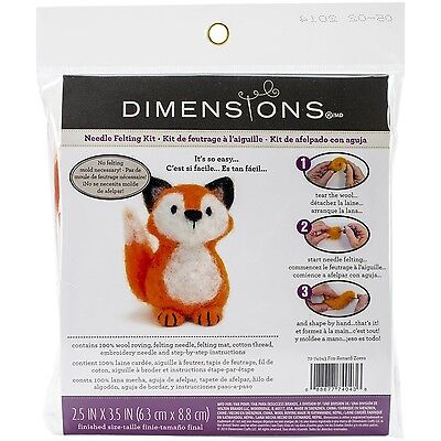 Dimensions Crafts 72-74043 Fox Needle Felting Kit , Free Shipping