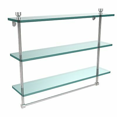 Allied Brass FT-5/22TB-PC Triple Glass Shelf with TB Polished... , Free Shipping