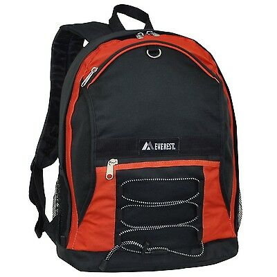 Everest Two-Tone Backpack with Mesh Pockets Rustic Orange One... , Free Shipping
