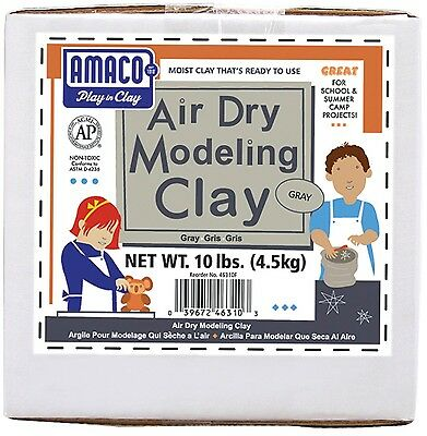 Amaco Air Dry Modeling Clay 10-Pound Gray , Free Shipping