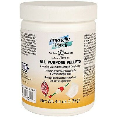 Amaco Friendly Plastic Pellets 4.4-Ounce Ivory , Free Shipping