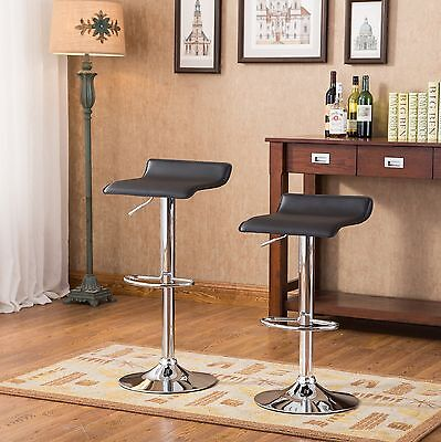 Roundhill Contemporary Chrome Air Lift Adjustable Swivel Stoo... , Free Shipping