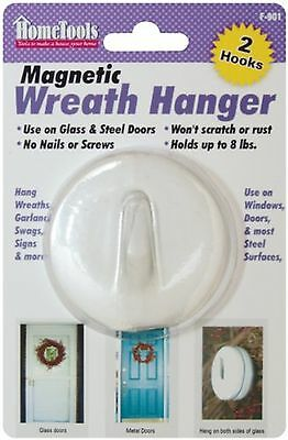 FPC F-901 Magnetic Wreath Hanger 2.5-Inch White , Free Shipping
