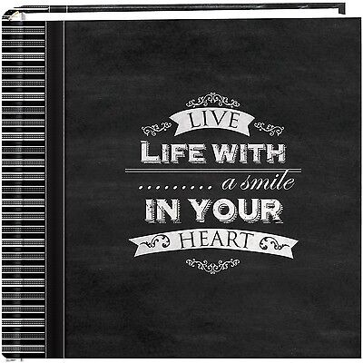 """Pioneer Photo Albums 200-Pocket Chalkboard Printed """"Smile"""" Th... , Free Shipping"""