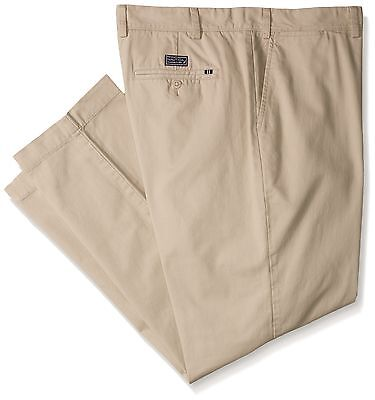 Nautica Men's Big-Tall Cotton Twill Flat Front Pant True Ston... , Free Shipping