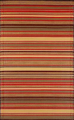 Mad Mats Stripes Indoor/Outdoor Floor Mat 4 by 6-Feet Warm Br... , Free Shipping