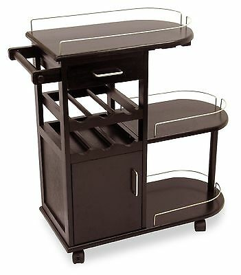 Winsome Wood Entertainment Cart Espresso Dark Espresso , Free Shipping